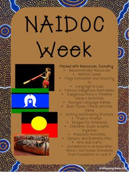This NAIDOC Week Pack of 45 pages is suitable for Australian or Indigenous studies, Sorry Day, Australia Day, Reconciliation Week, NAIDOC week and more. Includes information presented in a magazine style format and activities for Preschool to Year 6 with timeline cards, language group map, games, writing prompts and more. You can use this pack in your classroom, for multi-age teaching and for homeschool/home education.