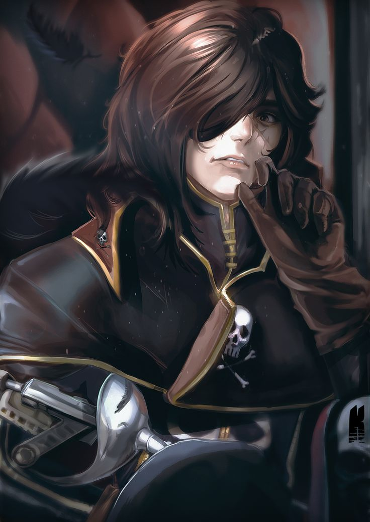 Captain Harlock by Kureiyah (fanart)