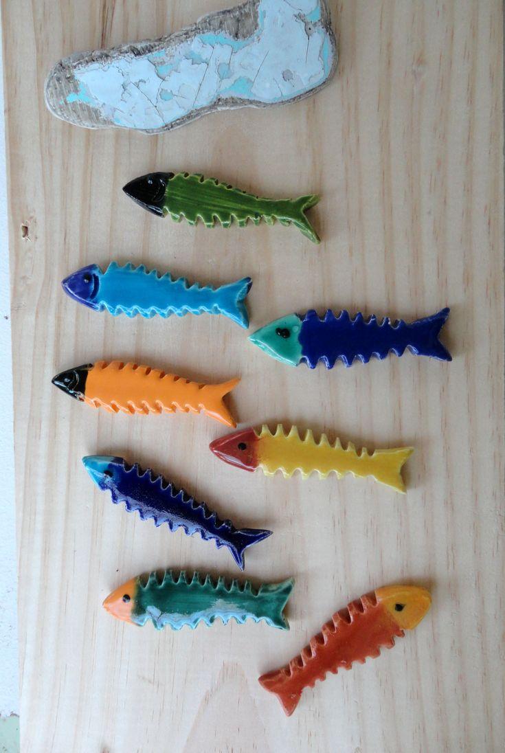 8 sardines porte couteaux en forme d 39 ar tes ornaments. Black Bedroom Furniture Sets. Home Design Ideas