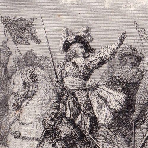 Gravure-Bataille-de-Rocroi-Guerre-de-Trente-Ans-Louis-II-de-Bourbon-Conde