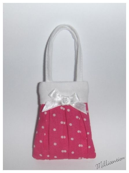 Pink & white polka dot Barbie doll bag