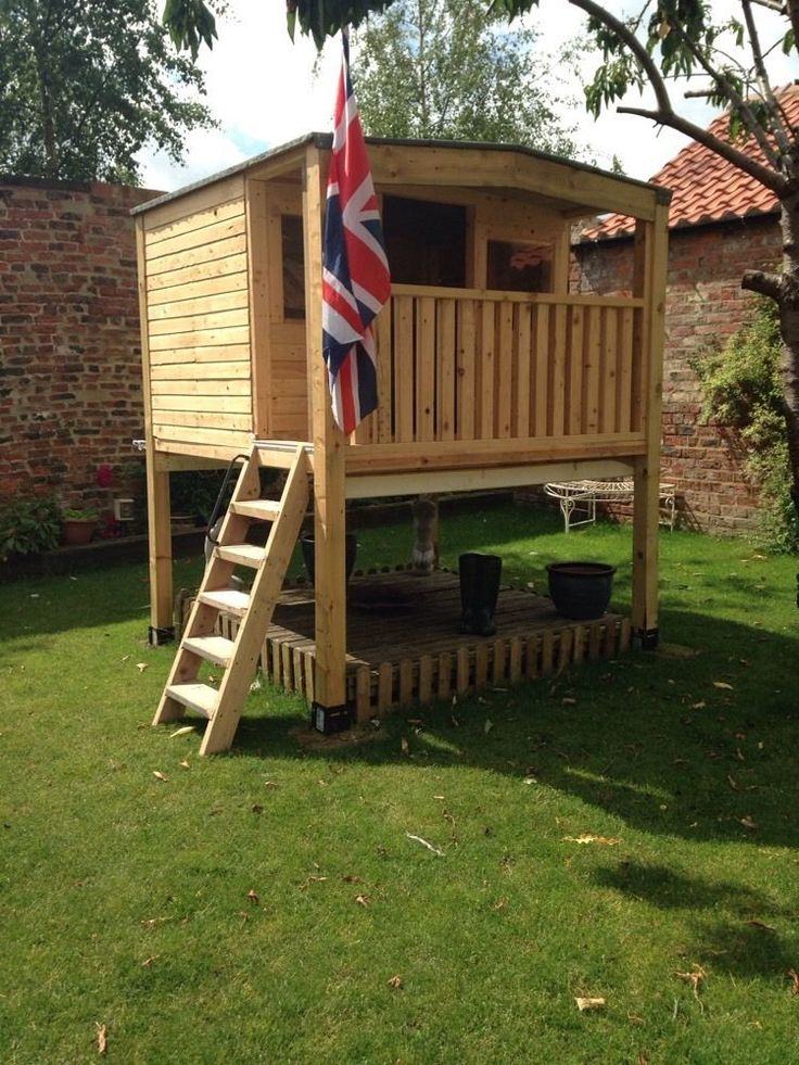 Outdoor Treehouse Part - 36: Custom Made Tree House Play Hut Garden Office On Stilts Sheds, Teenager  Hangout In Toys