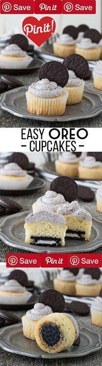 Easy Oreo Cupcakes #easy Easy Oreo Cupcakes - the best Oreo cupcake recipe with Oreo buttercream