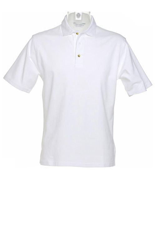 Tricou polo alb de bărbați Augusta Premium Kustom Kit din 100% bumbac #tricouri #polo #albe #barbati #personalizate #textile #promotionale