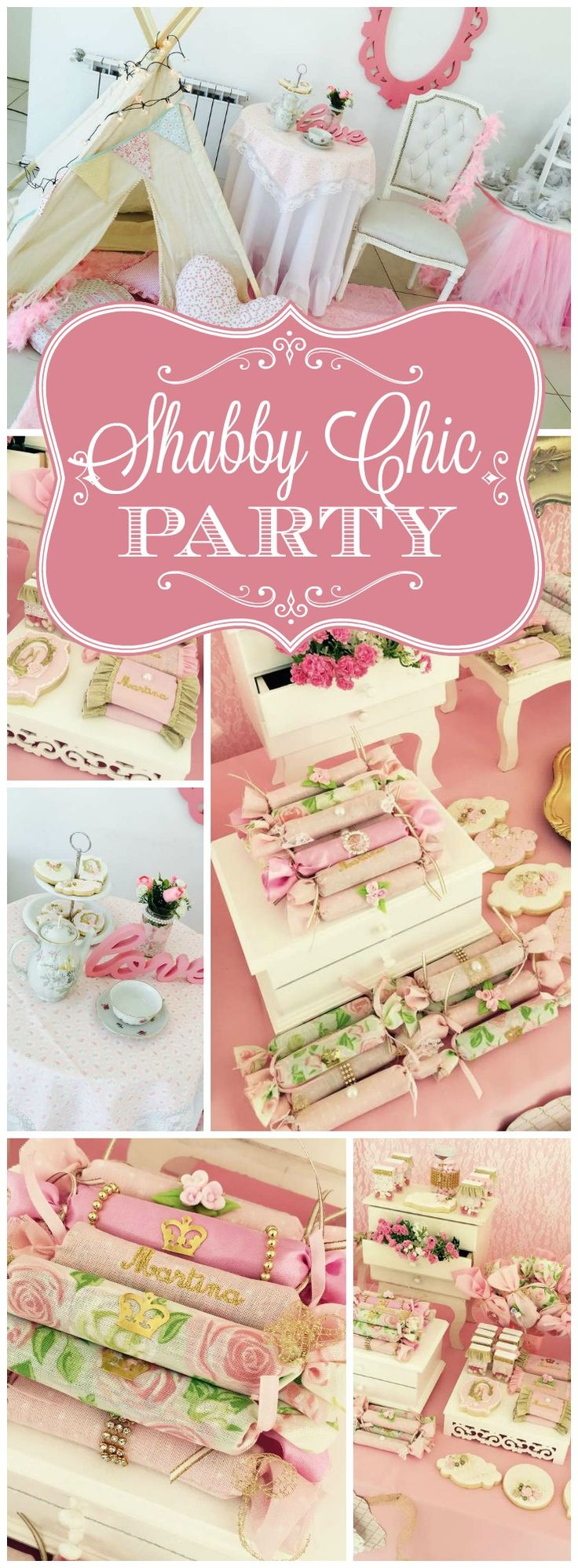 Here's a pretty baby girl baptism with lots of pastel treats! See more party ideas at CatchMyParty.com!