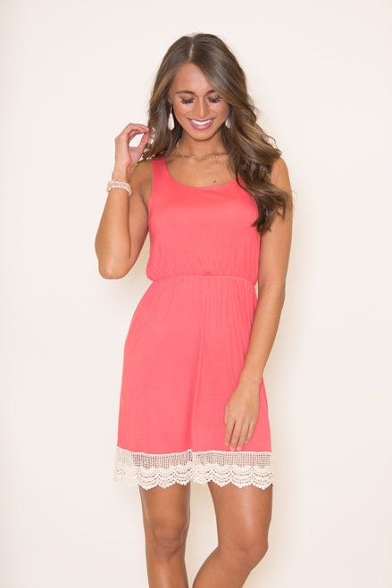 91217f665431 Bound To You Coral Dress