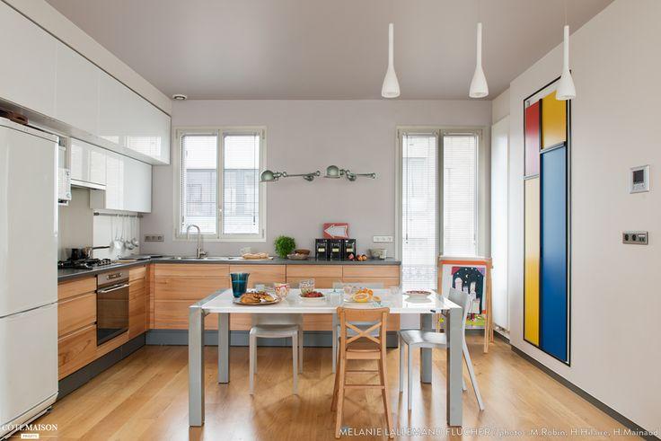 Maison ancienne modernisée entre épure & bien-être, Saint-Ouen, Mélanie Lallemand Flucher - architecte d'intérieur