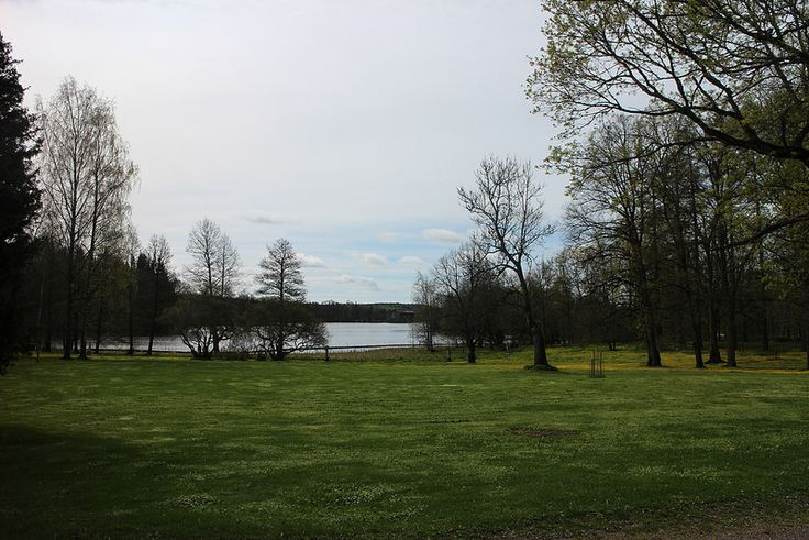 Gardens behind Svartå Manor Hotel. | by visitsouthcoastfinland #visitsoutcoastfinland #mustionlinna #Finland