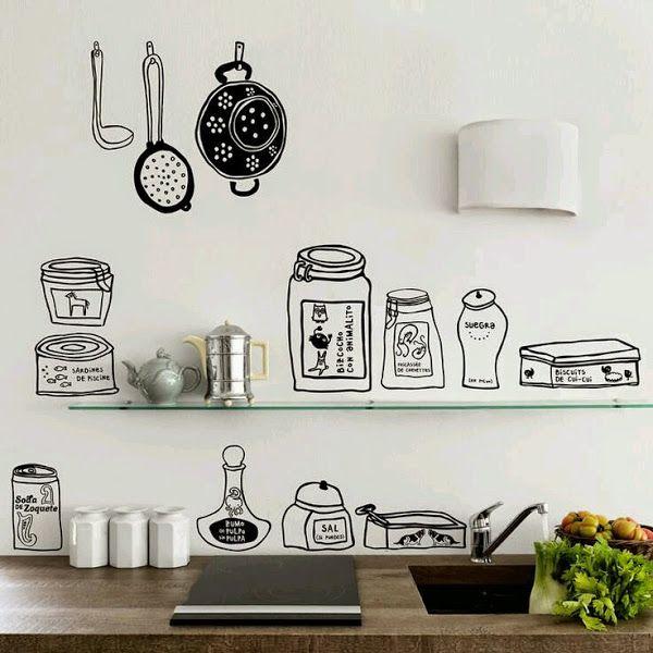 9 best vinilos decorativos para cocinas images on for Vinilos de cocina