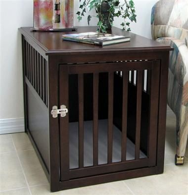 designer dog crate furniture ruffhaus luxury wooden. Crown Pet Crate Table In Espresso Finish Designer Dog Furniture Ruffhaus Luxury Wooden