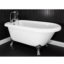Spa Collection 53 Inch Classic Style Clawfoot Tub And Faucet Pack By Baths Of
