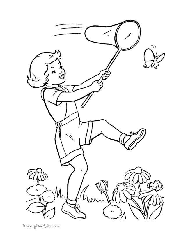 Free Printable Butterfly Coloring Page