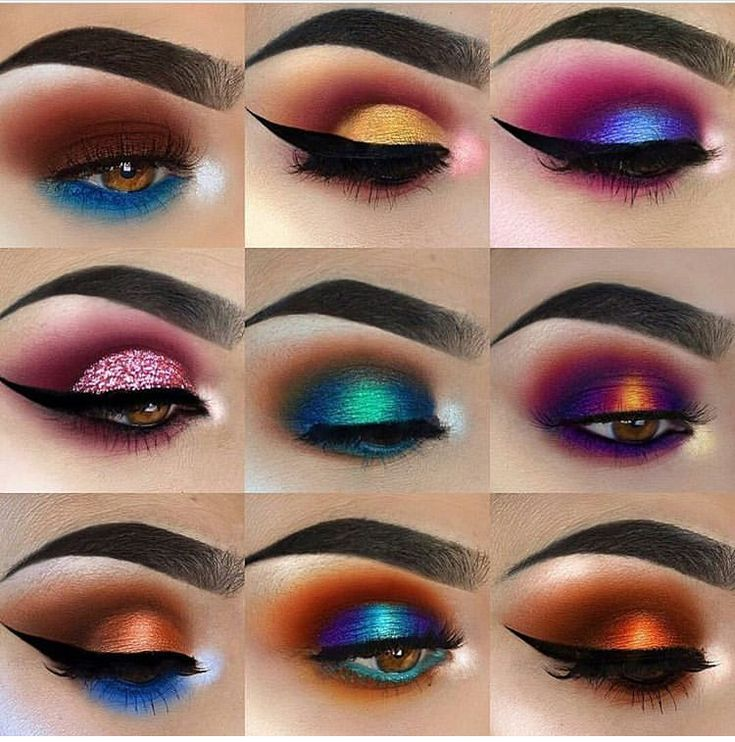 Wowww Colorful Eye Makeup Lashes Makeup Makeup Inspiration