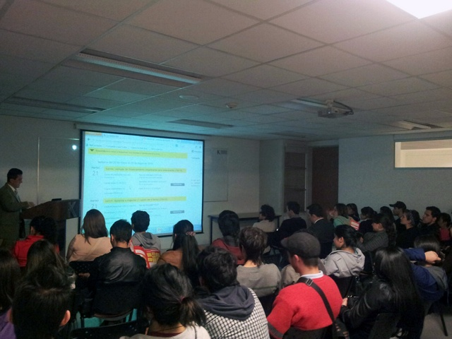 La Escuela de Negocios llevó a cabo una sesión informativa y taller con el Programa Bogotá Emprende de la Cámara de Comercio de Bogotá, con un grupo de más de 40 estudiantes. Más información haciendo clic en el pin.