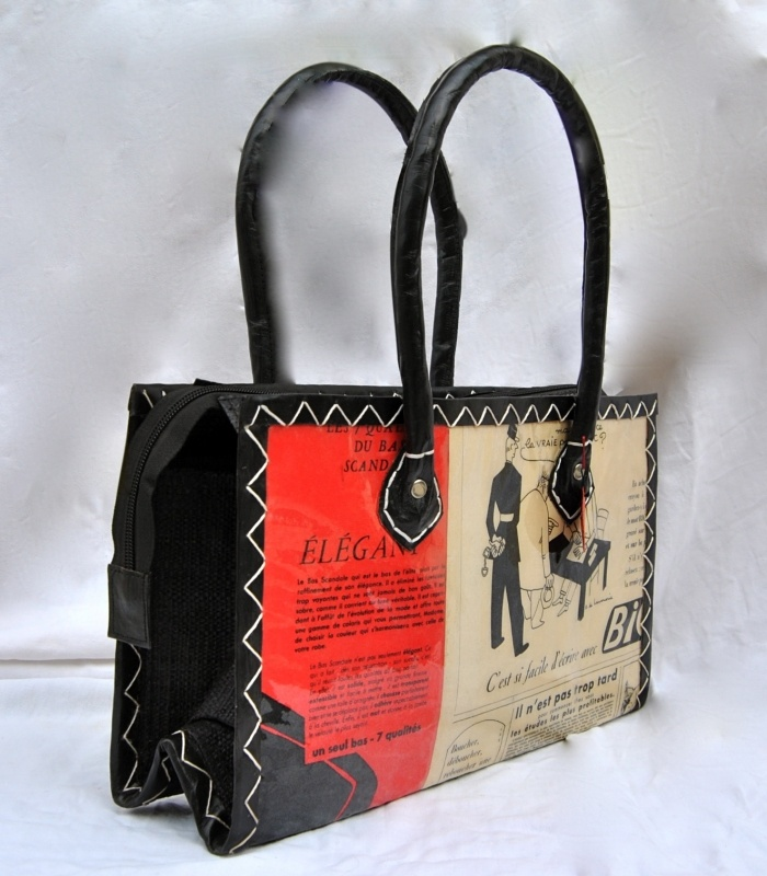 Nat Mad Day Bag,  Handmade daybags made from vintage newpaper and magazines