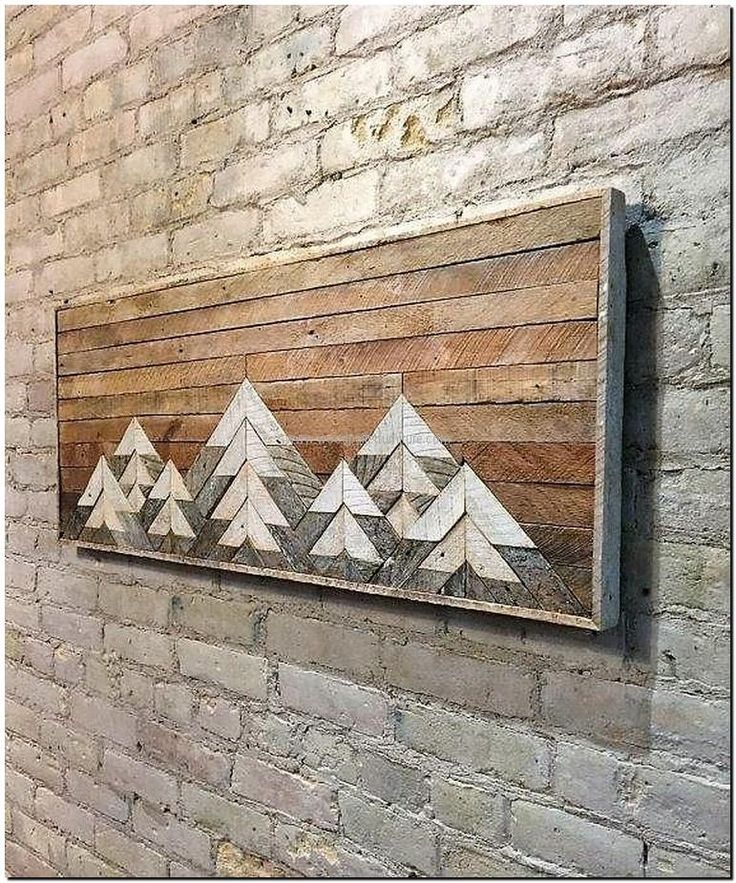 Pallets are great not only for the furniture creation, but also for making the wall art and we are here with the proof that the pallets work well when they are restyled into the wall art. See the creativity and you will be praised for copying this upcycled wood pallet wall art idea.