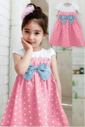 Dress Polka Kid Pink Bahan Spandek     Untuk 4-6 tahun     Harga : Rp. 69.000,-/pc     Kode Produk / Product Code : BAP2839