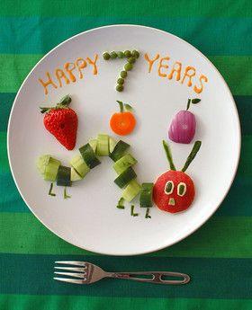 誕生日☆はらぺこあおむしのサラダプレート
