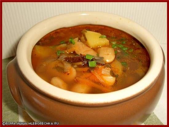 """Суп с фасолью """"лима"""" и черносливом - ХЛЕБОПЕЧКА.РУ - рецепты, отзывы, инструкции, обзоры"""