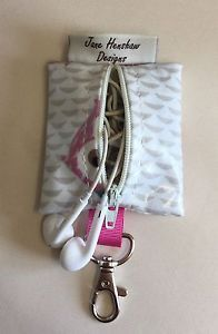 Earbud case,Headphone case,Earphone organiser,Earbud keychain,Owl Oilcloth  | eBay