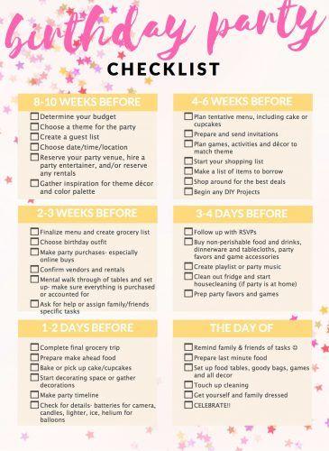 party planning with a kids u0026 39  birthday checklist