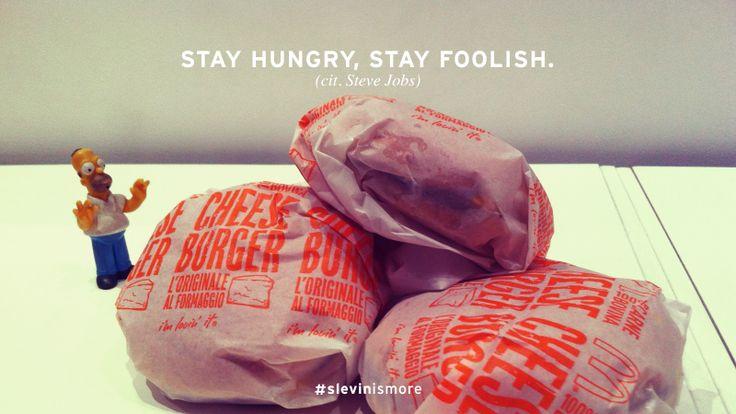 http://www.slevin.it/ #slevinismore  #stevejobs #apple #mcdonalds #homer #simpson #photo #slevin #studio #hamburger #time #burger #break #food #hungry #foolish