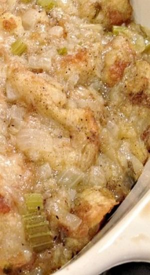 Delicious Old-Fashioned Turkey Dressing or  Stuffing Recipe ~ Delicious old-fashioned stuffing recipe made with celery, onions and a lot of sage.