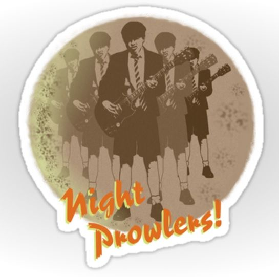 Sold!!! ..Big thank you to the person who recently bought 30 of these 'Night Prowlers!' sticker designs from my Redbubble webstore! #stickers #redbubble #rocknroll #guitarhero #moon #angus #acdc #nightprowler #highvoltage #heavymetal #bands #music #rocklegends #art #like #popart