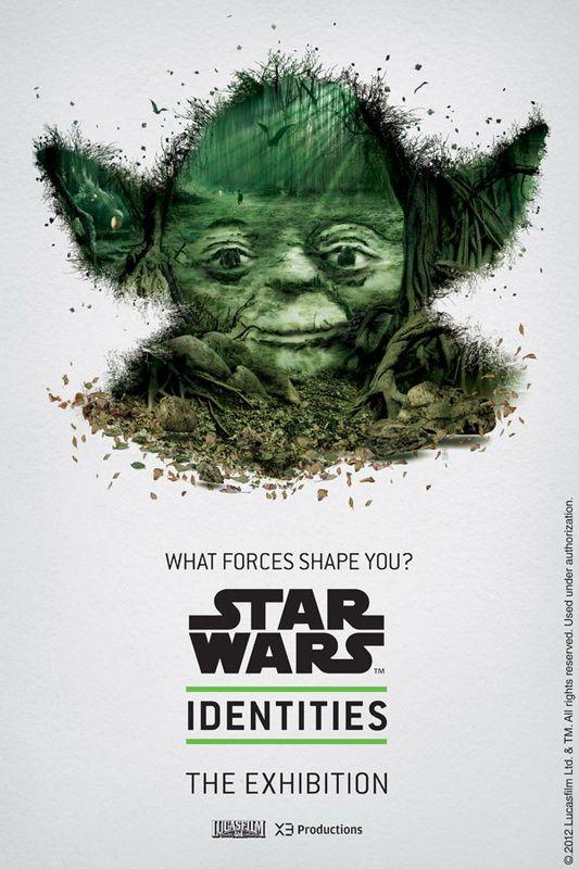 Star Wars - Serie de cartazes produzidos para a exposição em Montreal em 19 de abril de 2012.   Mosaico composto com imagens vetoriais de elementos e cenas dos filmes. Sensacional!