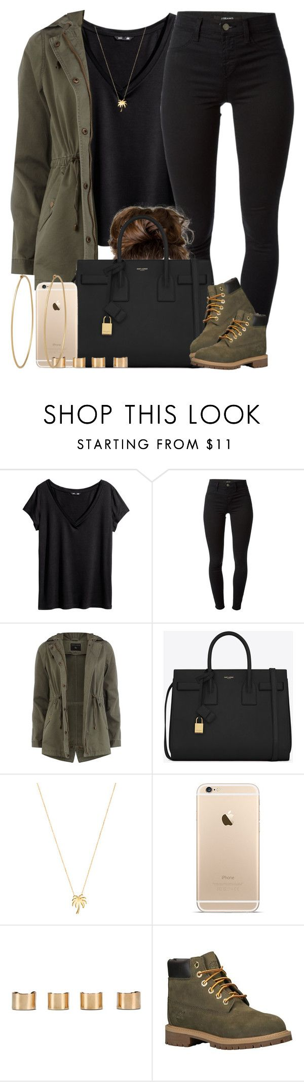"""Pull up in that all Black. "" by livelifefreelyy ❤ liked on Polyvore featuring H&M, J Brand, Dorothy Perkins, Yves Saint Laurent, Joolz by Martha Calvo, Maison Margiela, Timberland, Social Anarchy, women's clothing and women's fashion"