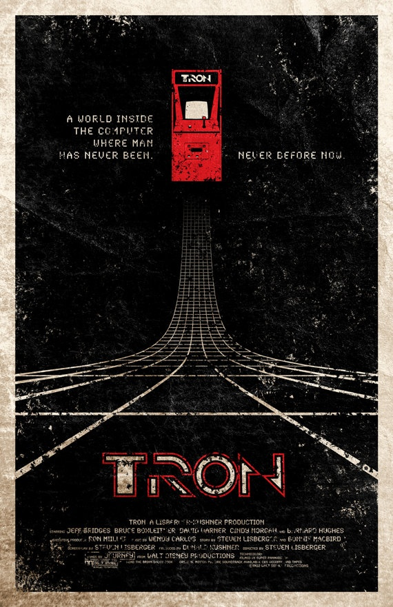 Tron Movie Poster Uncovet: Movie Posters, Adamrabalai, Adam Rabalai, Posters Design, Tron Posters, Posters Art, Cinemat Movie, Alternative Movie, Tron Movie