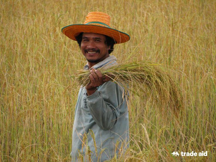 Sadith Kranchanasan, rice farmer in Thailand. Fair trade - handmade change.