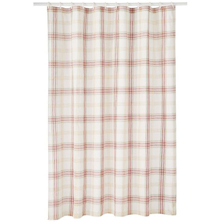 Lenox Holiday Shower Curtain Part - 40: Lenox Holiday Nouveau Plaid Shower Curtain