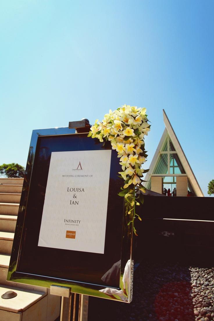 Louisa & Ian | Infinity Chapel Conrad Bali | Bali Wedding