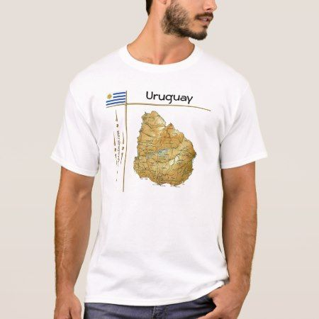 Uruguay Map + Flag + Title T-Shirt - tap, personalize, buy right now!