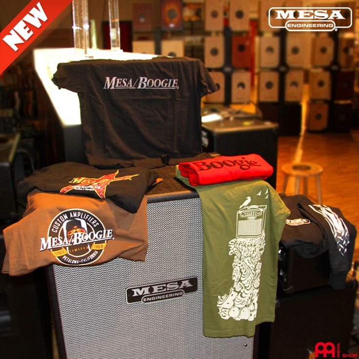 The new Shirts from Mesa/Boogie are now available at our meinlshop.de!   #meinlshop #shirts #mesa #mesashop #boogie #mesatubes #amp #mesaamp #verstärker