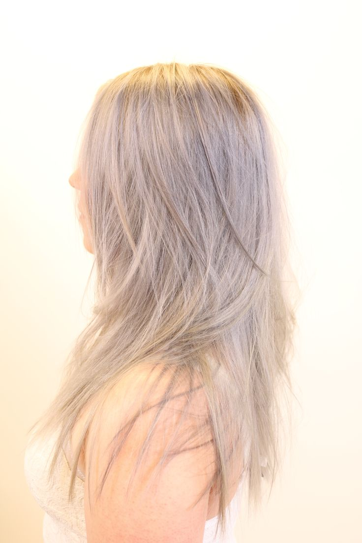 Granny hair, cool icy blonde, texture with long hair