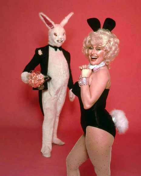 That time in 1978 when Dolly Parton posed for Playboy with a super pervy-looking bunny