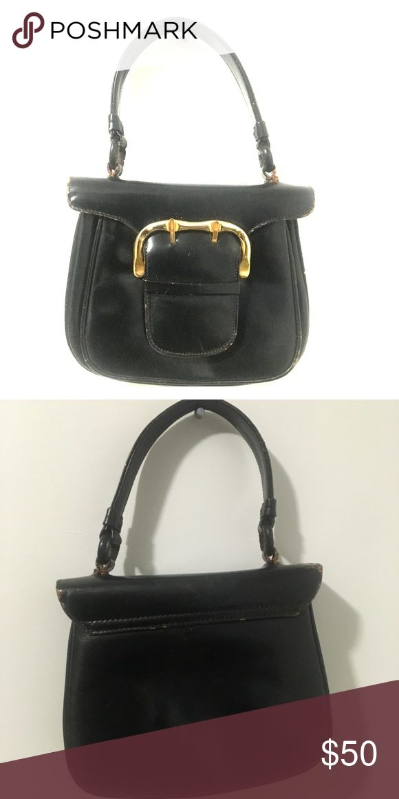 Vintage Italian Leather Buckle bag This is a beautiful vintage leather over the shoulder and easy to carry sorta bag. For the days you would like to keep it light, classy, and great for keeping your essentials close. Bags Shoulder Bags