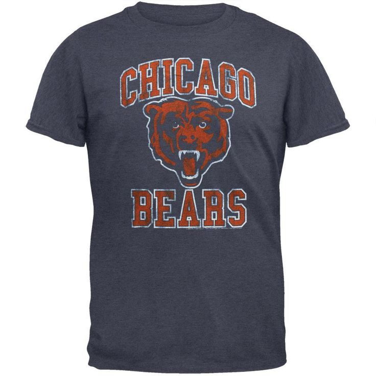 Chicago Bears - Distressed Logo Soft T-Shirt
