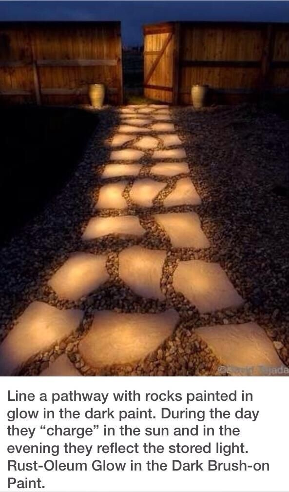 Glow in the dark walkway DIY backyard project!!