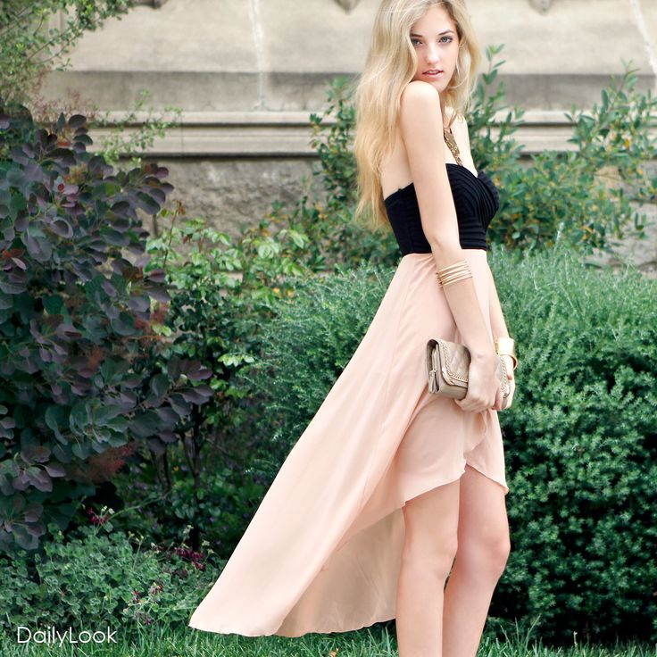 Check out Damsel in a Dress Look by Casting LA, Glaze and MMS at DailyLookHilow Dresses, Homecoming Dresses, Highlow Skirts, High Low Dresses, Fashion Closets, High Low Skirts, Highlow Sweetheart, Black Wedges, Dreams Closets