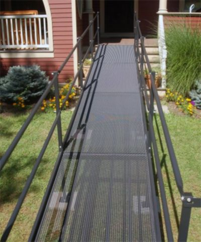 AccessNSM's Deluxe steel-constructed wheelchair ramps provide a durable and strong solution for wheelchair and scooter mobility. More economical than our premium aluminum wheelchair ramp, our DELUXE Steel Wheelchair Ramps feature durable construction, fast installation and rugged durability, making them top choice for many customers.