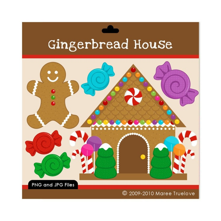 christmas clip art gingerbread house - photo #18