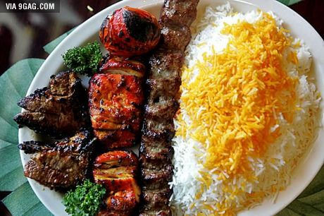 Traditional Iranian meal.