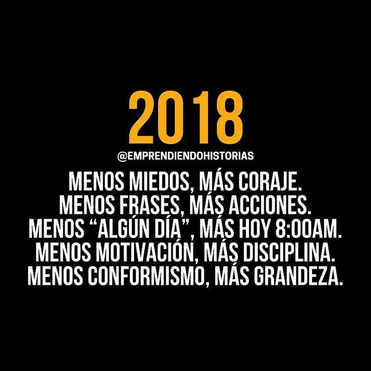 2018: Llegó el momento de hacer realidad todos tus sueños. De convertirte en lo que siempre has querido ser. Alcanzar la grandeza.