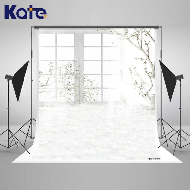 Kate крытый свадебный фон белые занавески и филиалы свет интерьера фон большой размер бесшовные фото