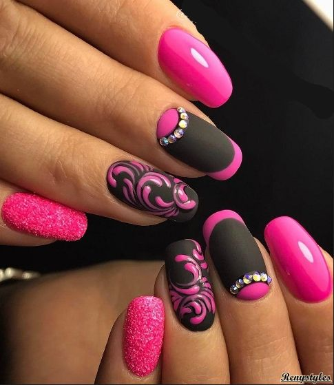 50+ Spring Nails Designs & Colors 2017