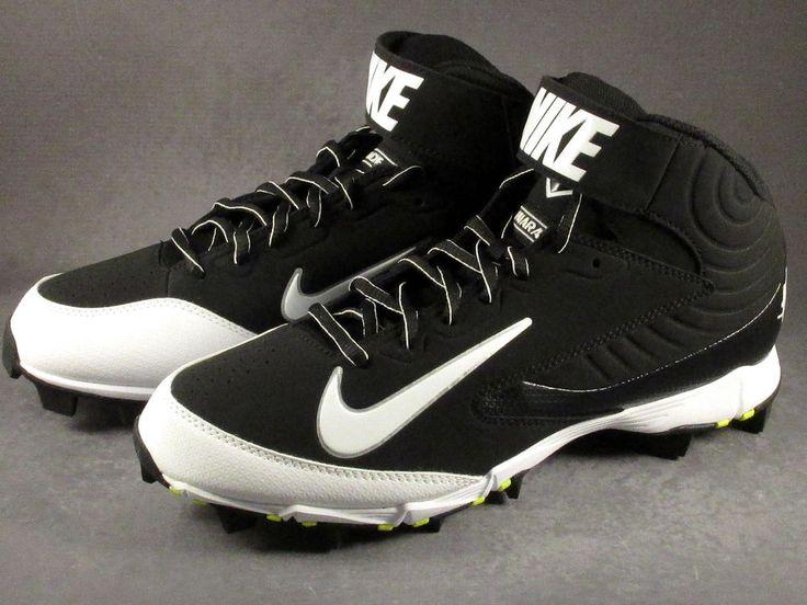 Men's Nike Huarache Keystone Mid Molded Baseball Cleats Size 9 Black-NEW #Nike