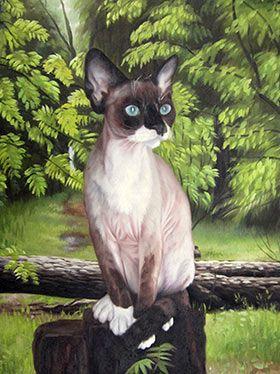 Katze als Ölgemälde auf Leinwand! Ölgemälde malen lassen.